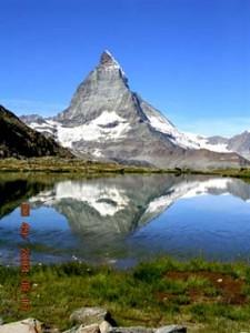 この夏行ったスイスの逆さマッターホルン